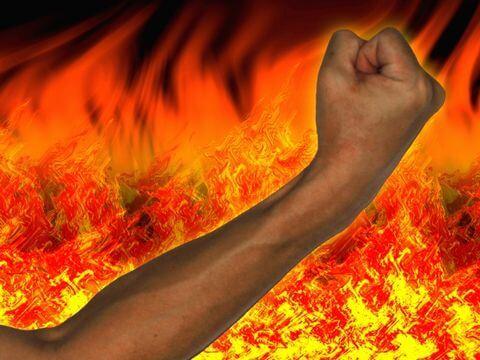 ガッツに燃える腕